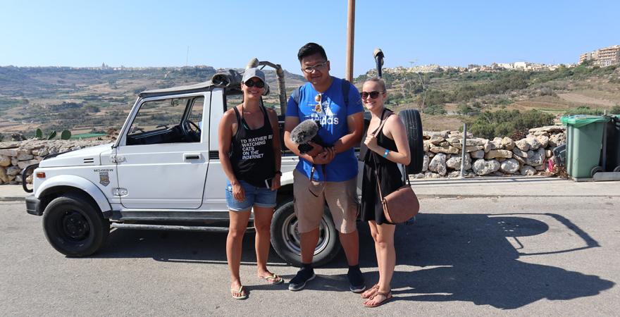 Team auf Jeep-Safari auf Gozo