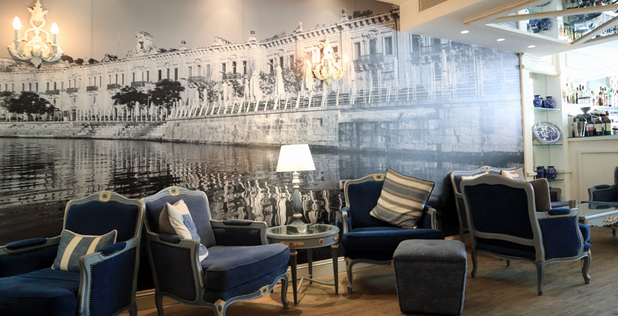 Lounge und Bar des Hotel Osborne in Valletta