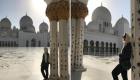 Posieren für Bild in Moschee