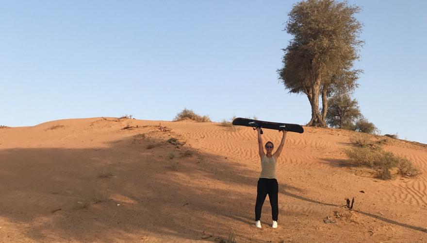 Sandboard in Ras Al Khaimah