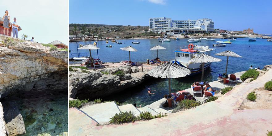Strandbereich des Ramla Bay Resorts, Malta