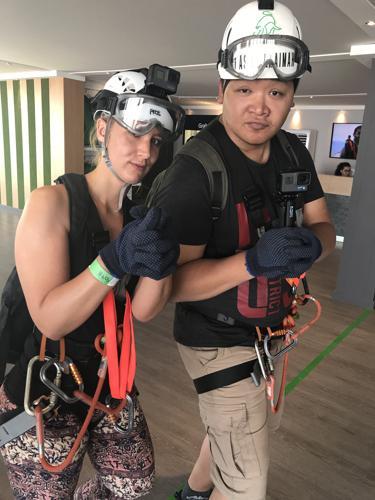 Ausrüstung bei einer Zipline Fahrt