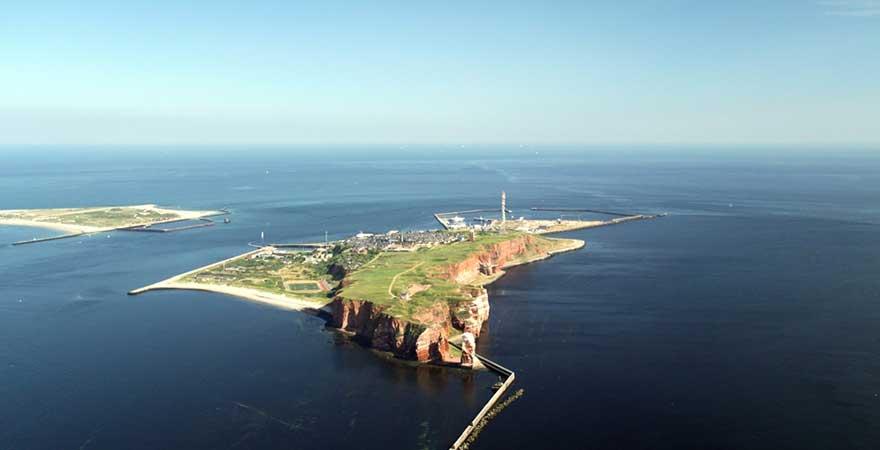 Blick auf die Insel Helgoland