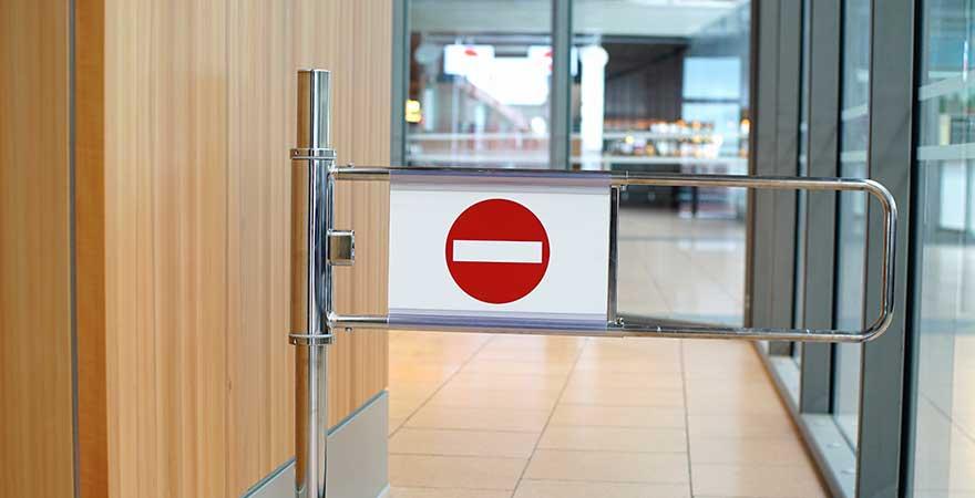 Durchgangsverbot Flughafen