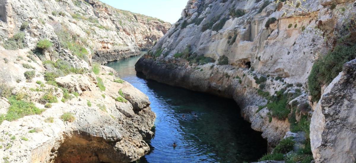 Die Meeresschlucht von Wied Il-Għasri
