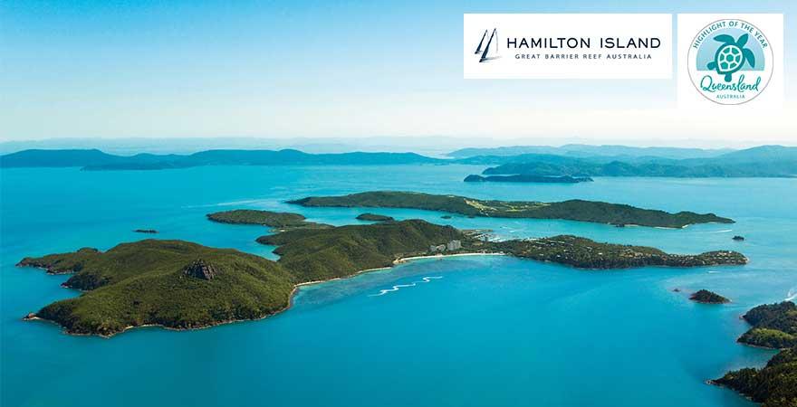 Blick auf hamilton island, australien