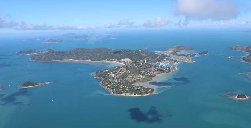 Blick auf Hamilton Island von oben