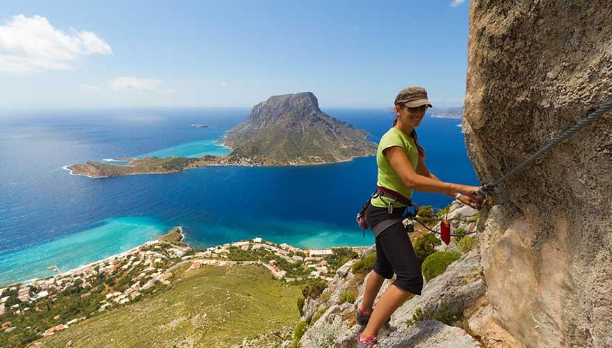 Klettern auf der griechischen Insel Kalymnos