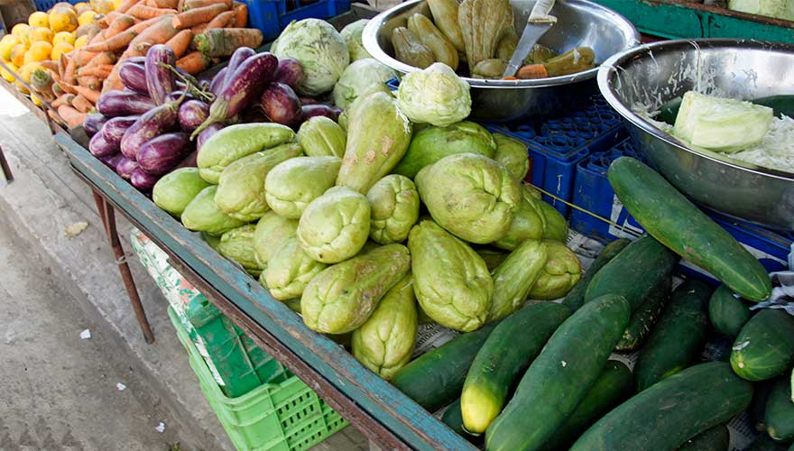 Marktstand in der Dominikanischen Republik