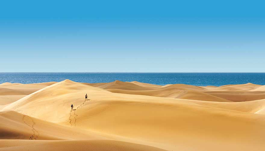 Sandwüste Maspalomas auf Gran Canaria