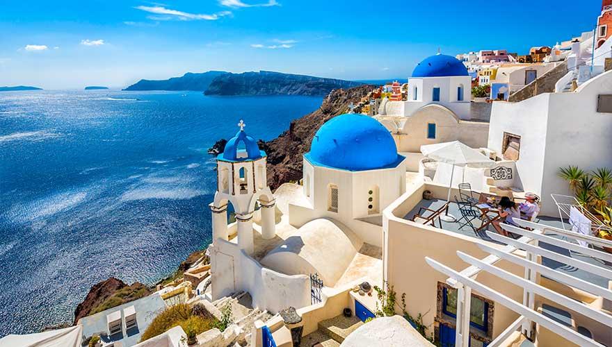 Blick auf Santorini