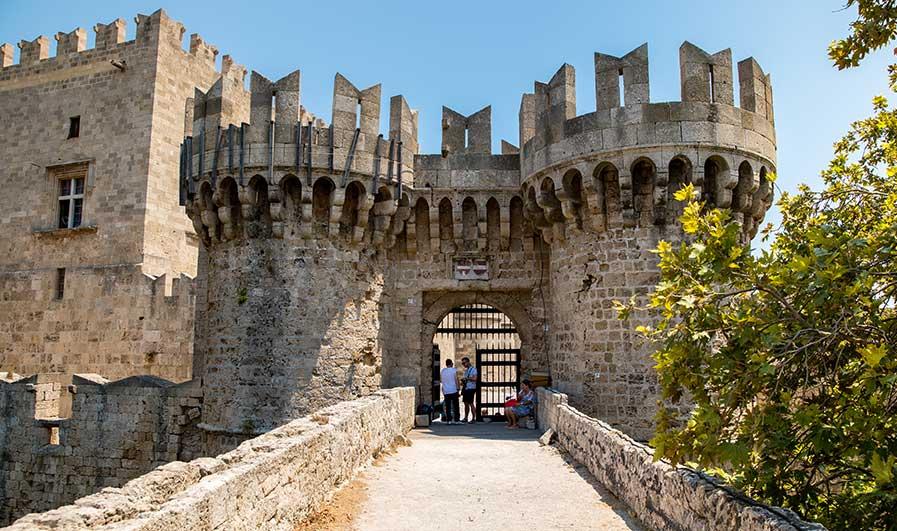 Stadtmauer auf Rhodos
