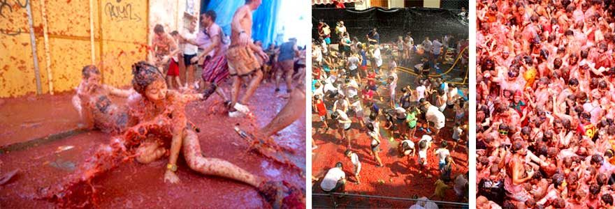 Tomatina Fest in Spanien