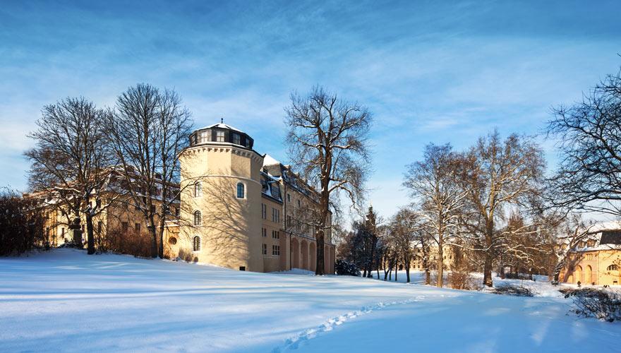 Bibliothek in Weimar im Winter