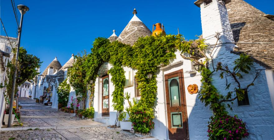 Trulli Häuser in Apulien