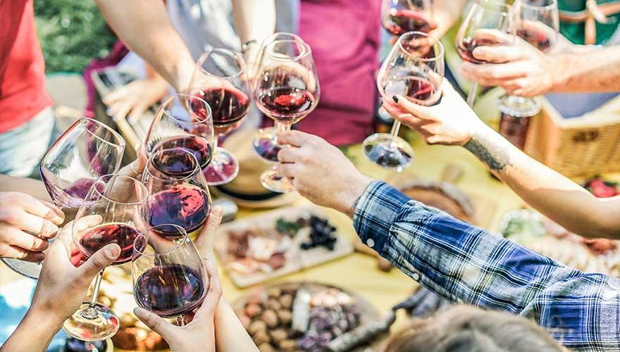 Weinprobe in Italien