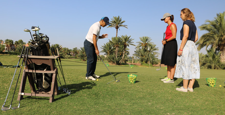 Golfstunde im Palm Golf, Palmeraie, Marrakesch