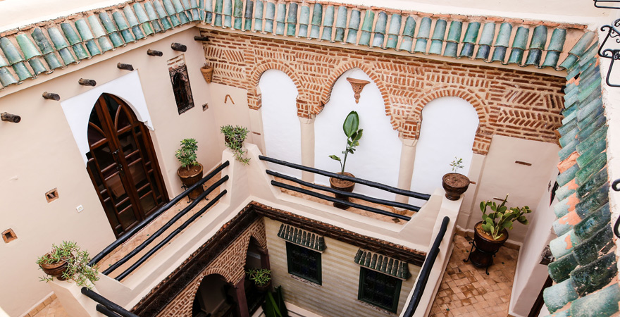 Innenhof Dar Catalina, Marrakesch