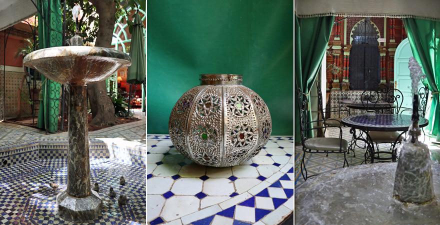Innenhof, Riad Catalina, Marrakesch