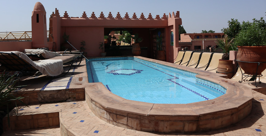 Der Pool vom Riad Catalina, Marrakesch