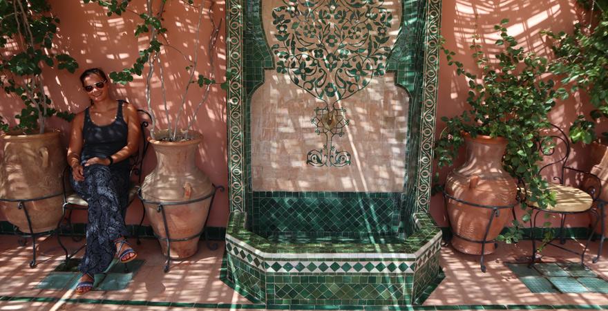 Dachterrasse, Riad Catalina, Marrakesch