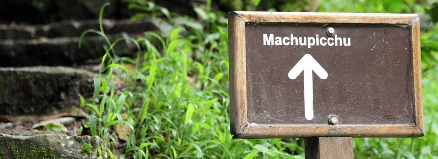 Wegweiser Machu Picchu Trail