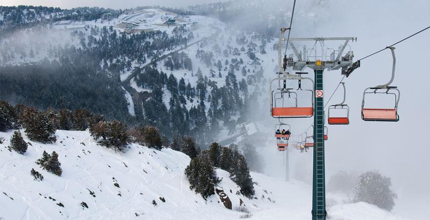 Skilift auf Zypern