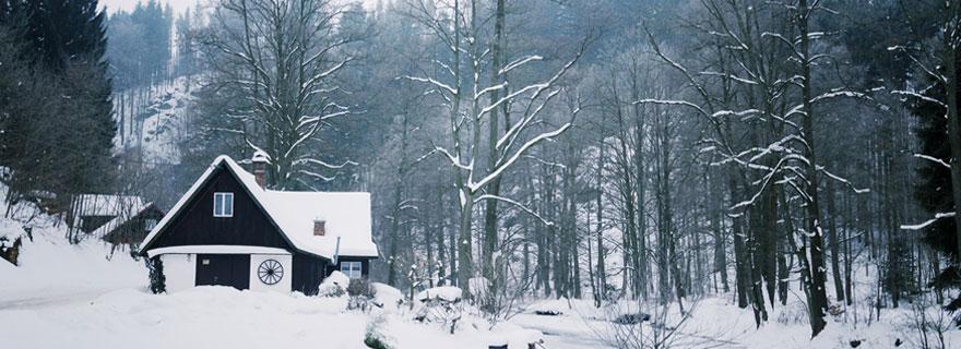 Winterlandschaft in Tschechie