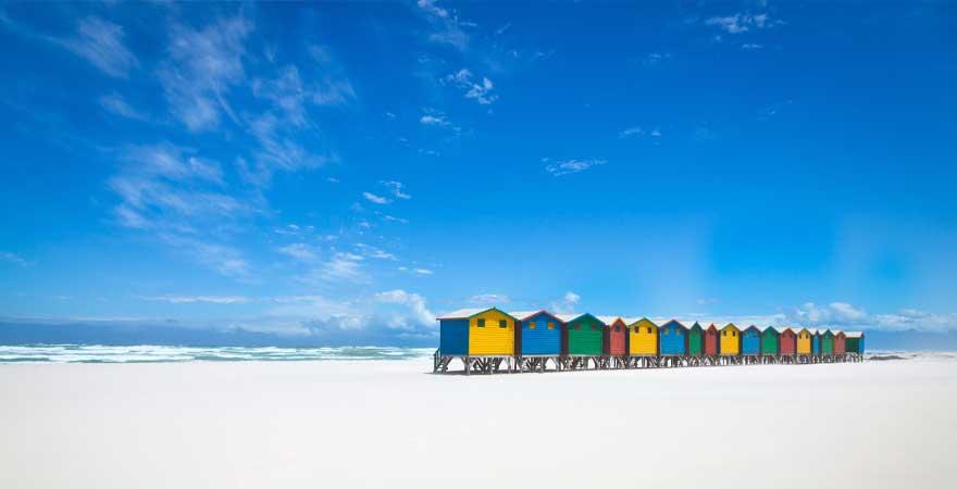 Strand in Muizenberg in Kapstadt
