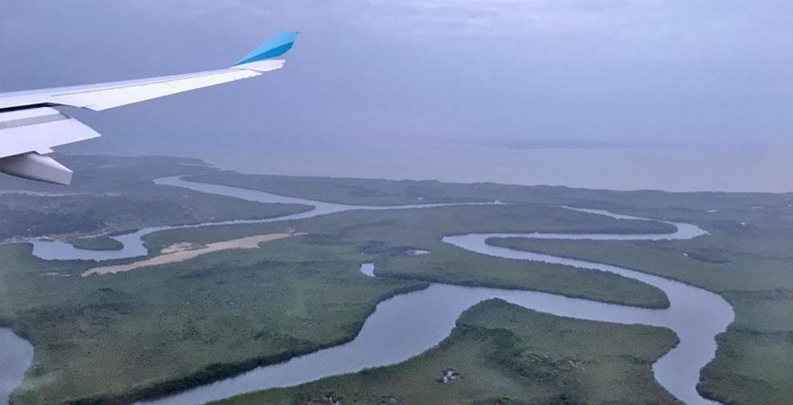 Anflug auf Gambia