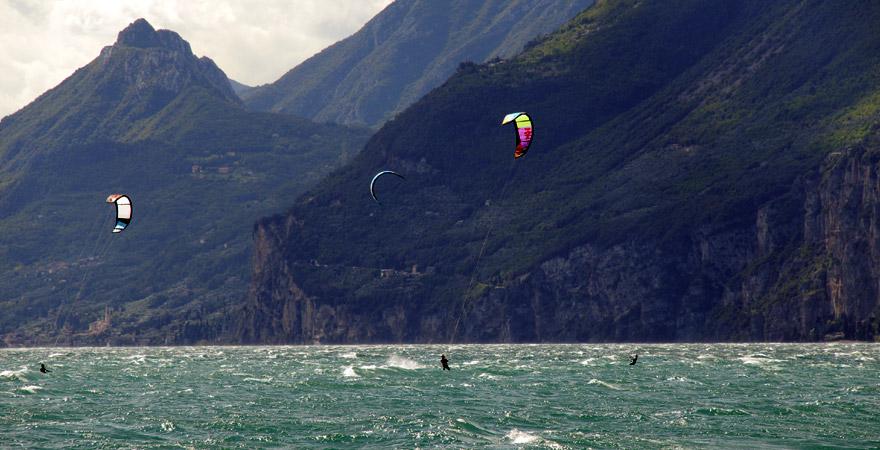 Kiten am Gardasee