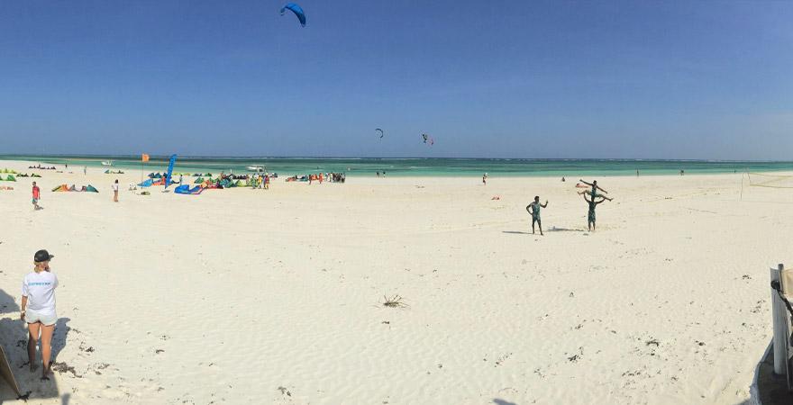 Kiten in Kenia, Strand