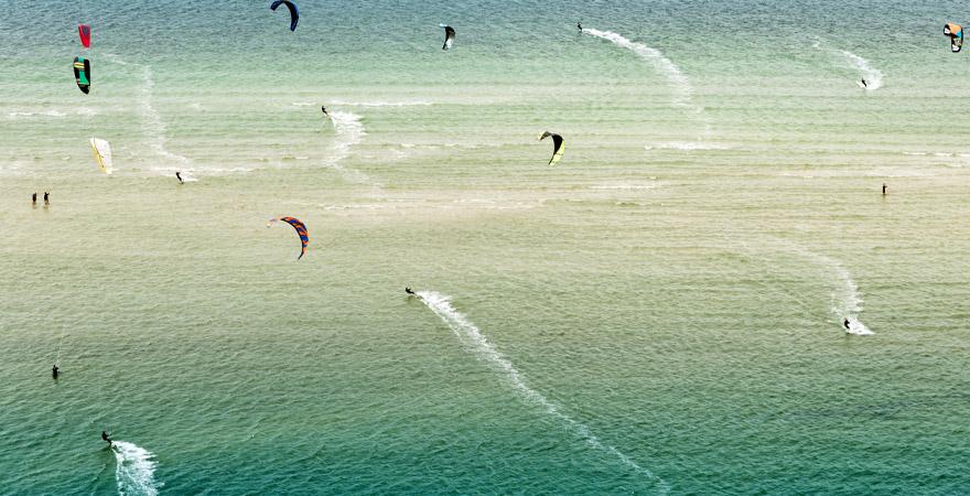 Kiten in der Ostsee
