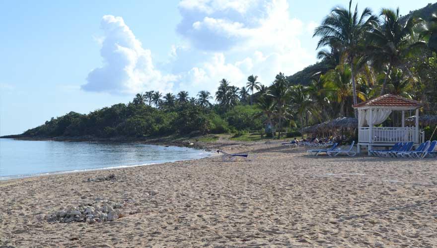 Strand playa Jibacoa auf Kuba