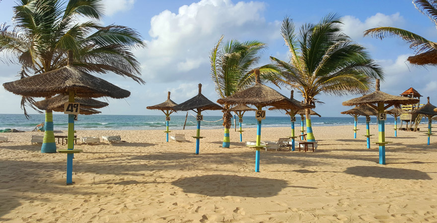 Strand in kololi in Gambia