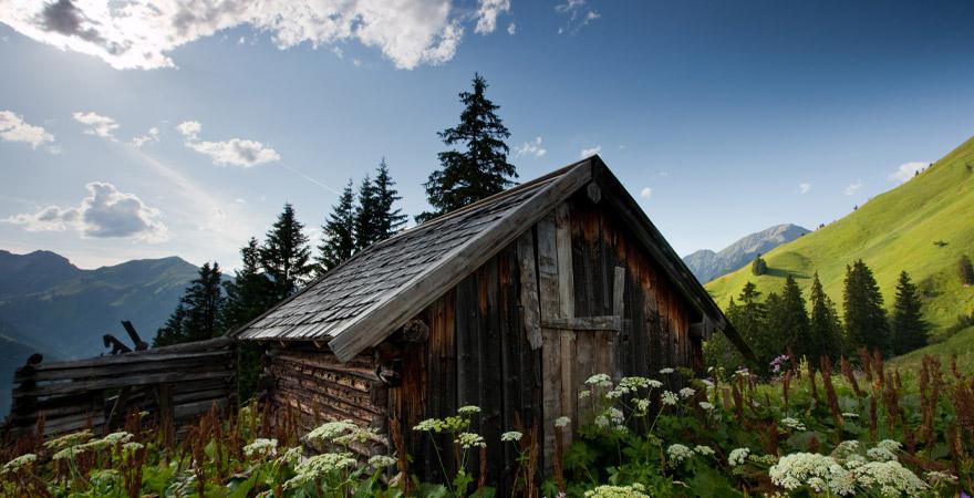 Hütte in den Bergen in Österreich