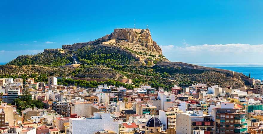 Blick auf Alicante in Spanien