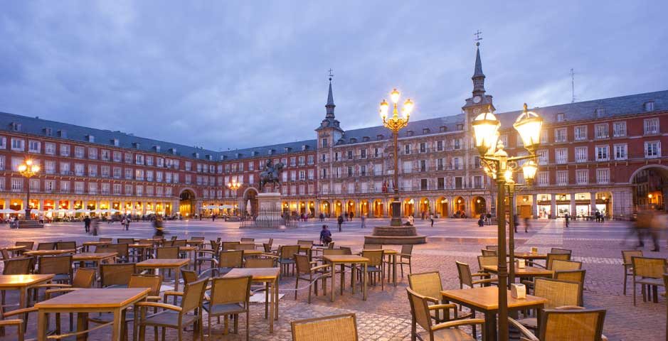 Hauptplatz in Madrid