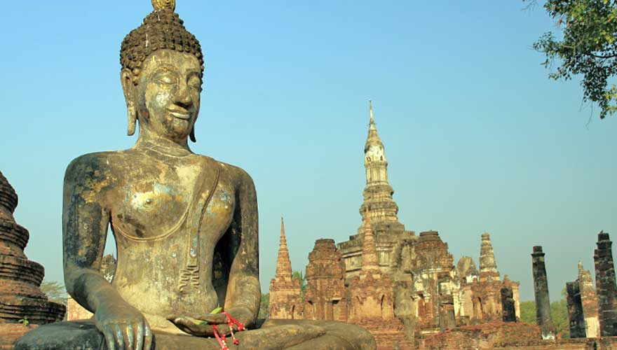 Statue im Sukhothai Geschichtspark