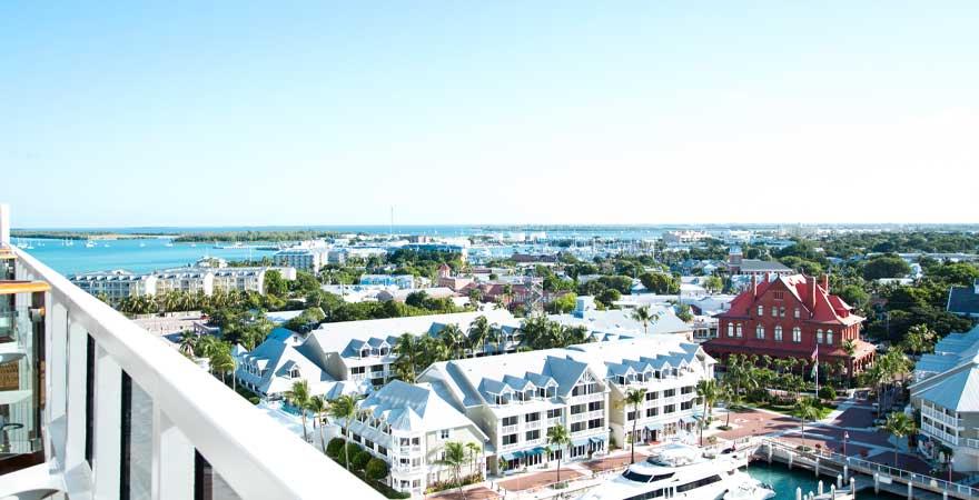 Blick auf Hafen von Key West, Miami