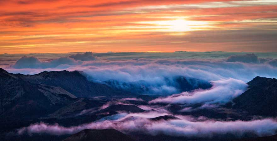 Haleakala sonnenaufgang
