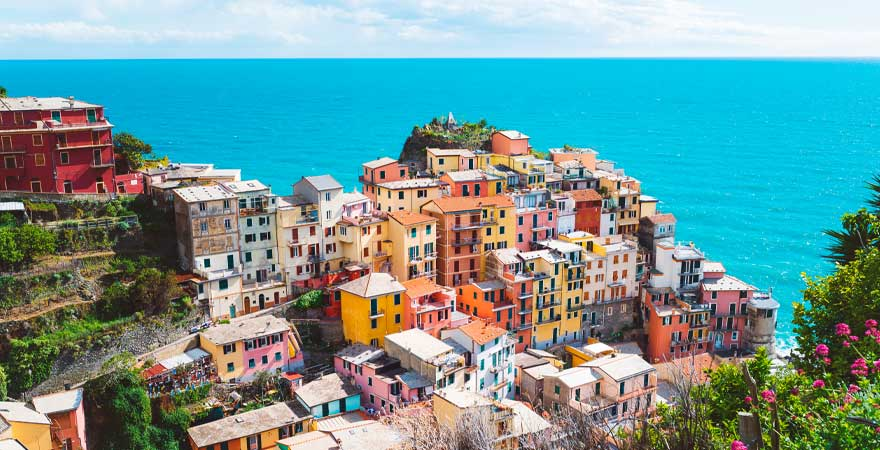 bunte Häuser in Cinque Terre