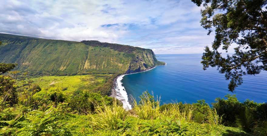 Küste Hamakua auf Big Island Hawaii
