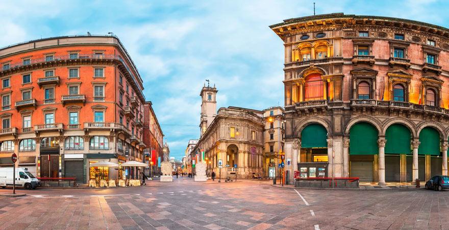 Mailand Piazza dei Mercanti