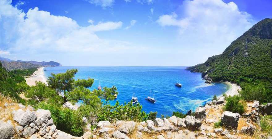Blick auf Küste in Antalya