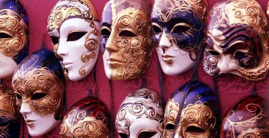 masken für karneval in venedig