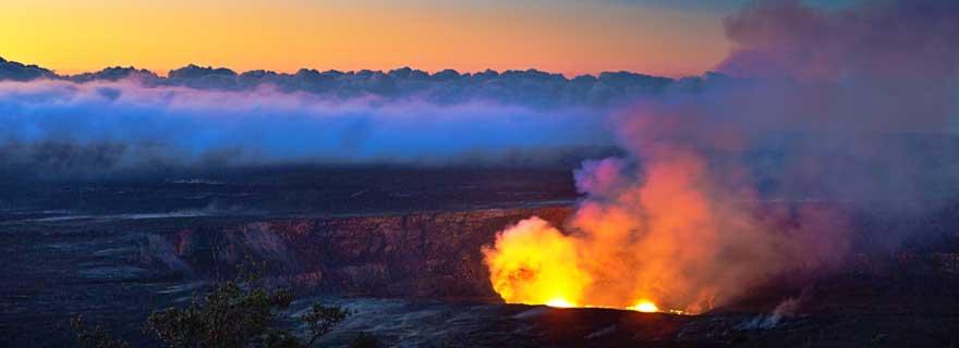lava auf der Big island vulkan