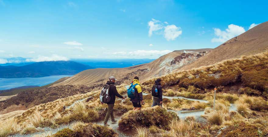 Tongariro Crossing in Neuseeland