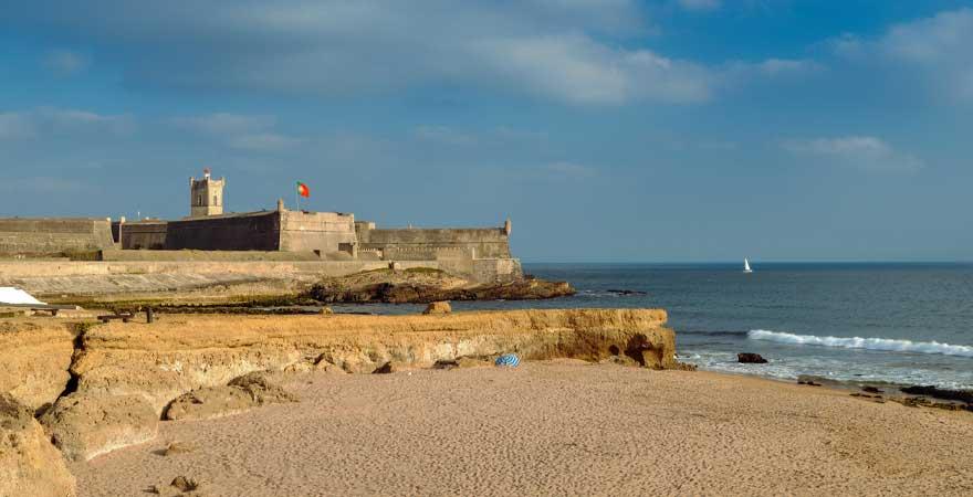 Praia de Carcavelos Strand bei Lissabon