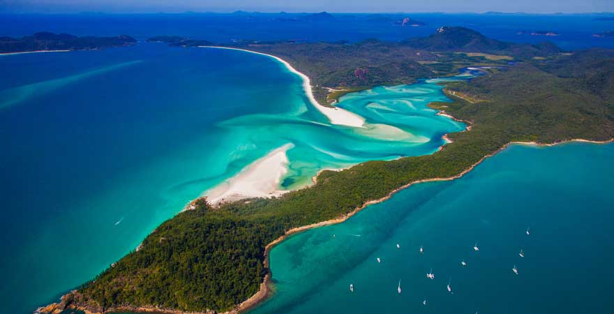 whitehaven beach in australien